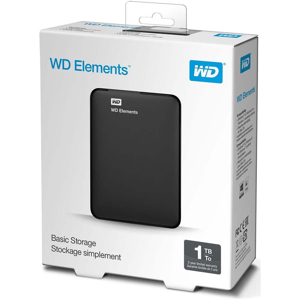 WD - 1TB Elements Portable External Hard Drive - USB 3.0 ...